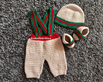 2e57344ce Crochet baby set Crochet headband knitted fashion Clothes Baby boy booties  Crochet Booties Crochet hat pants booties set Crochet pants Photo
