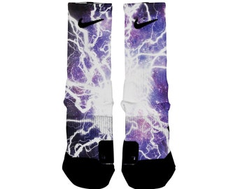 ef01fd53bed04 Lightning socks | Etsy