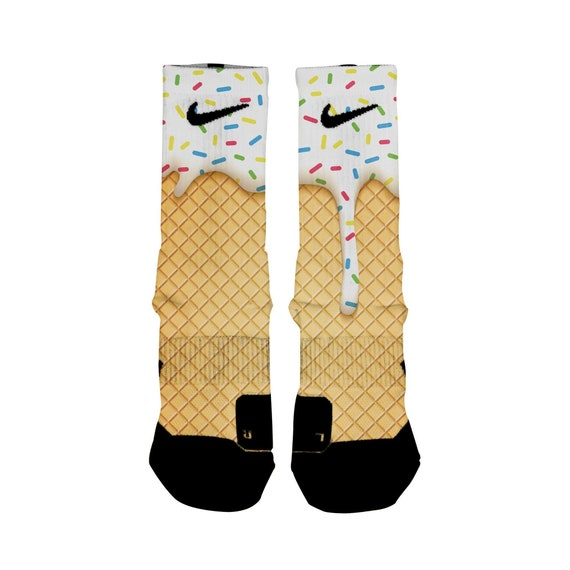 Cadena Estrecho de Bering cigarro  ICE CREAM Custom Nike Elite Socks All Shoe Sizes Perfect | Etsy