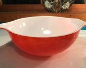 Red Friendship Pyrex 444 Cinderella Mixing Bowl 4 Quart Vintage Retro