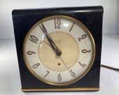 Clock, Alarm Clock, Bedside, Model S6-D, Electric, Westclox, Big Ben, Clock, Bakelite Case, Antique, Vintage