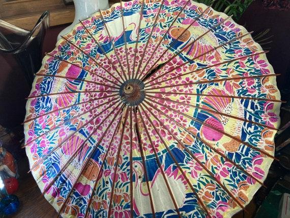 Parasol, Japan, Vintage Parasol, Umbrella, Wood,