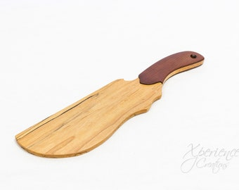 High Quality Hand Crafted BDSM Maple Wood Spanking Paddle