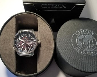 0d4788375 Men's Citizen Eco-Drive Promaster Nighthawk S/S Watch w/Box and 4 Links