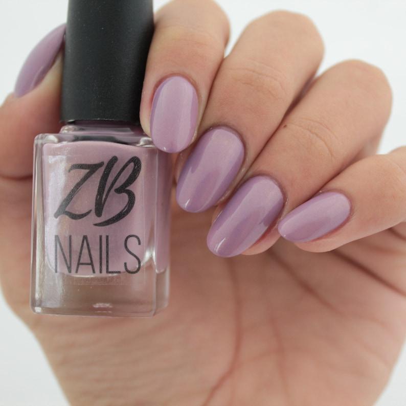 Lucid Dream Mauve Nail Polish ZB Nails | Etsy