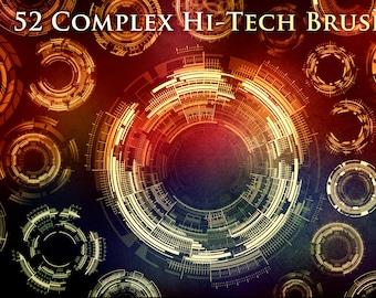 52 Complex Futuristic Circle Brushes