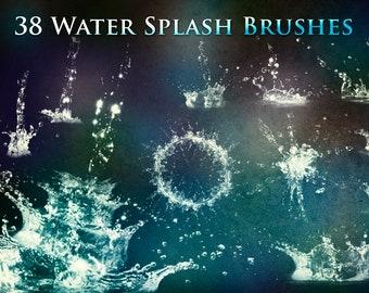 38 Water Splash Brushes