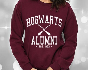 3af7fc0582b89 Harry Potter Hogwarts Alumni Sweatshirt Xmas Christmas Gifts For Fan Magic  Pott Head School Wizardry Wizards