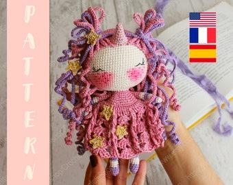 Patrón unicornio amigurumi patrón unicornio crochet patrón | Etsy | 270x340