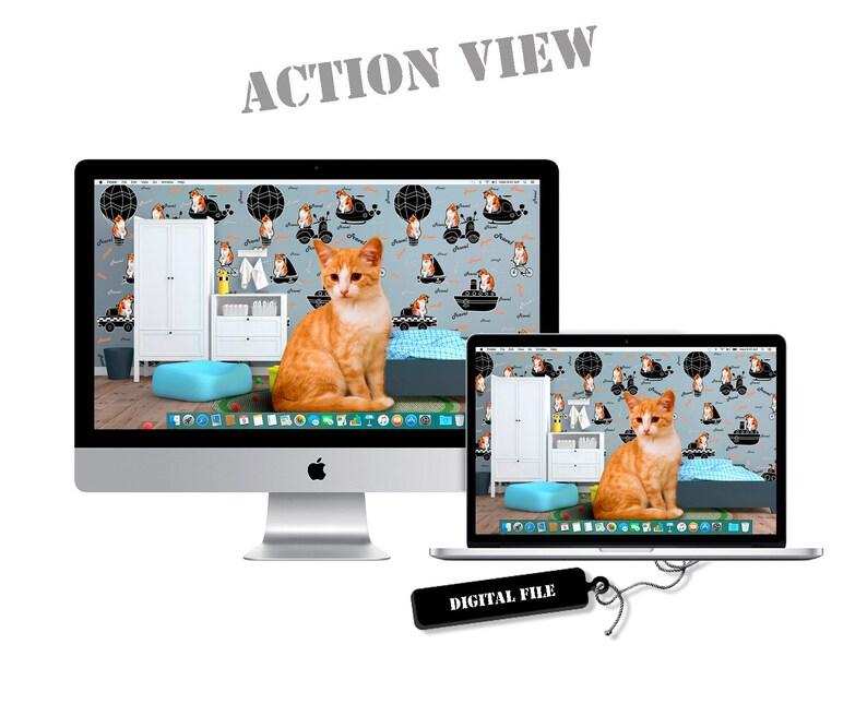 1920x1080 Travel Sweet Home Cat Fantasy Desktop Pc Wallpaper Display Fullhd Digital Pc Instant Download