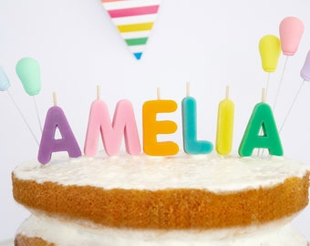 Birthday Candles - Beeswax Letter Cake Candles