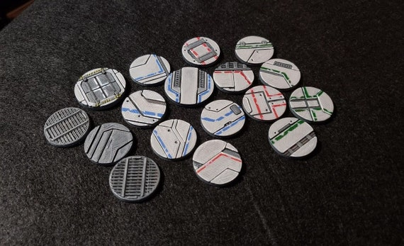 3D Printable sci-fi bases for gaming miniatures