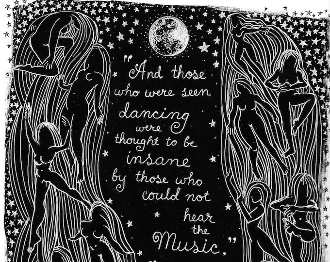 INSTANT DOWNLOAD Inspirational Line Art On Black Background