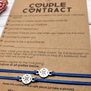 Matching Bracelets Compass Friendship Bracelet Couples Gift for Him Couples Bracelet Wanderlust Travel Gift Inspirational Gift