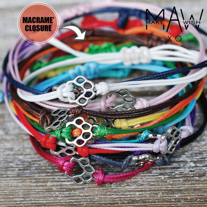 Granddaughter Gift \u2022 Granddaughter Bracelet Gift from Grandma \u2022 Friendship Bracelet \u2022 Gift from Grandpa \u2022 Granddaughter Card \u2022 Wish Bracelet