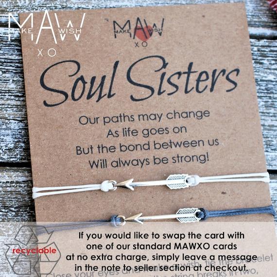 Unbiological Sister Friendship Bracelet Soul Sisters Bracelet Etsy