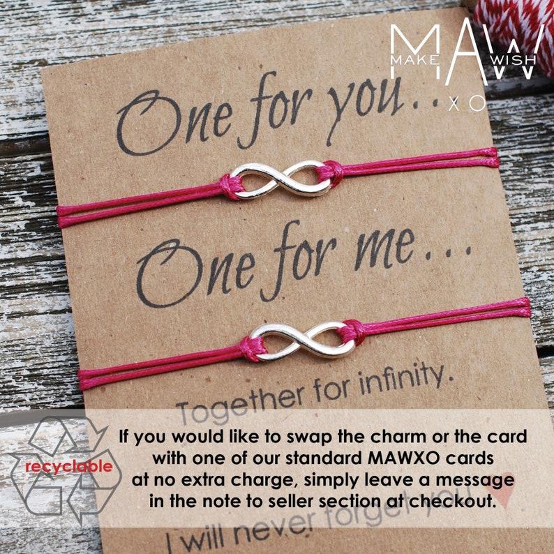 942640c5f772d Best Friend Gifts Matching Bracelets Long Distance Relationship Couples  Bracelet Infinity Bracelet Macrame' Closure Friendship Bracelet