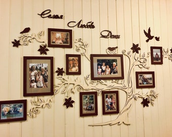 Family Tree Photo Frame Etsy