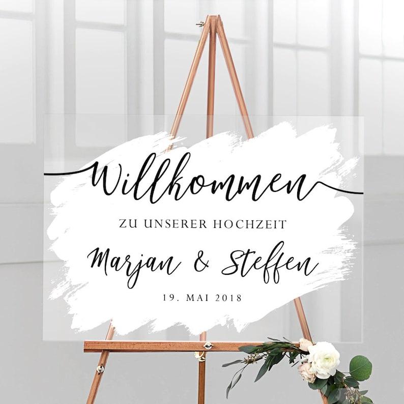 Willkommensschild Acryl Hochzeit