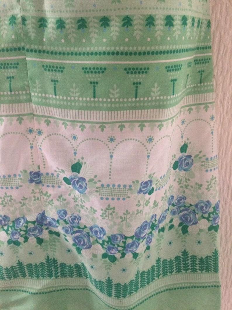 Vintage 60s Green Zip Front Sleeveless Mod Dress UK 12-14