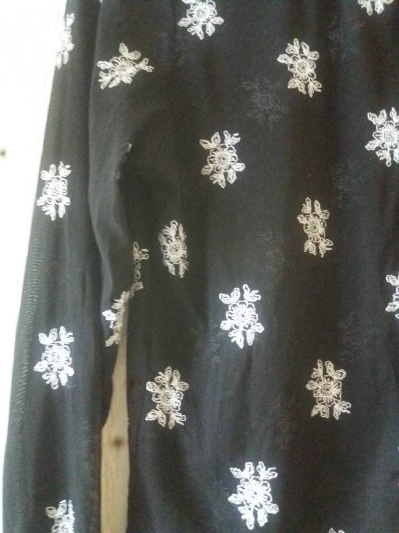Vintage 90s Black Semi Sheer Grunge Style Cardigan UK 16