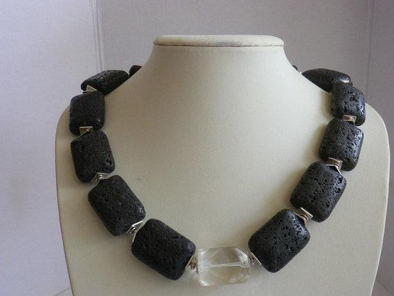 16d287c80efe5 Lava necklace lead crystal necklace black squares