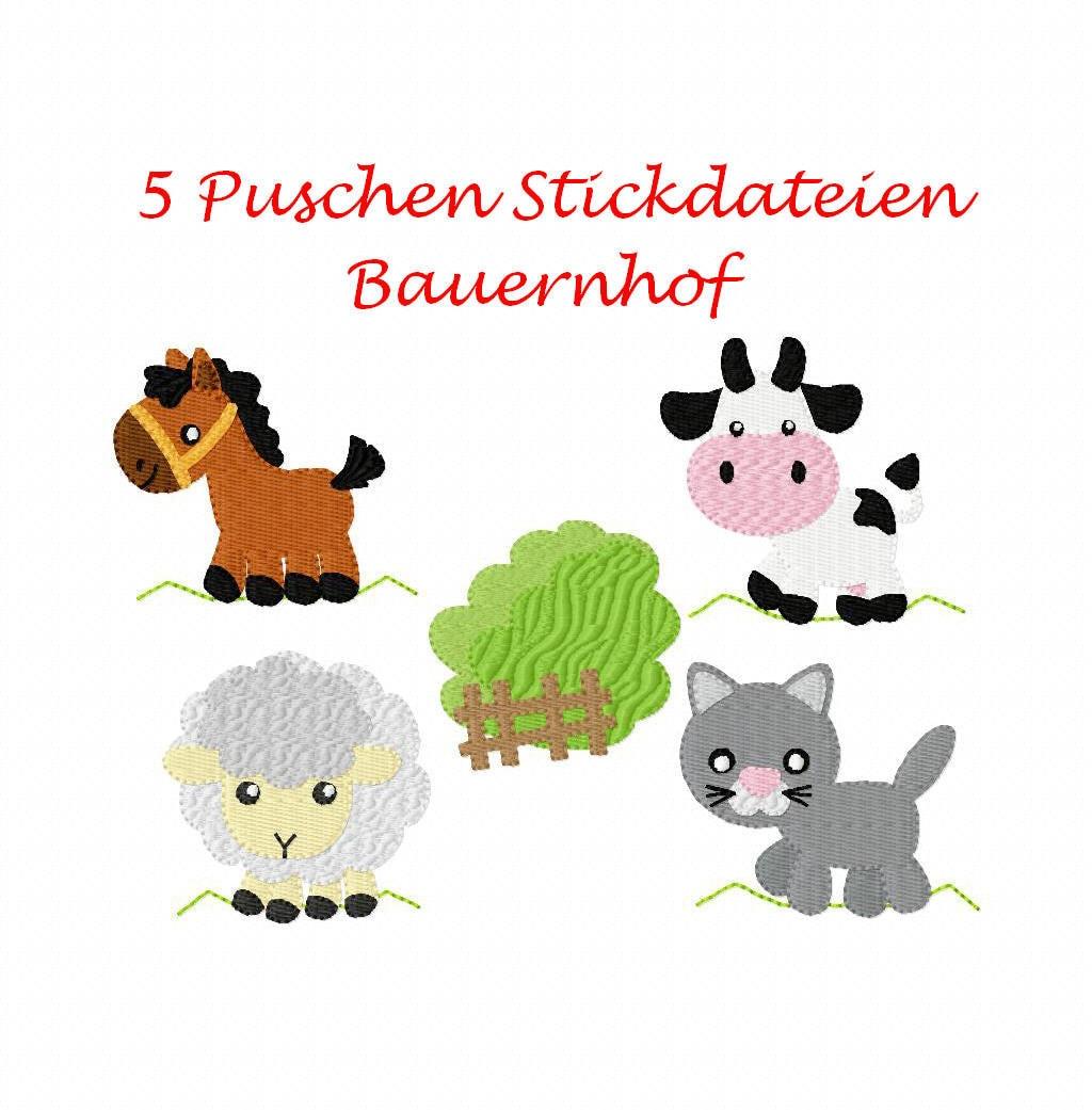 Stickdatei Puschen Bauernhof Set 1 10 x 10 Rahmen | Etsy