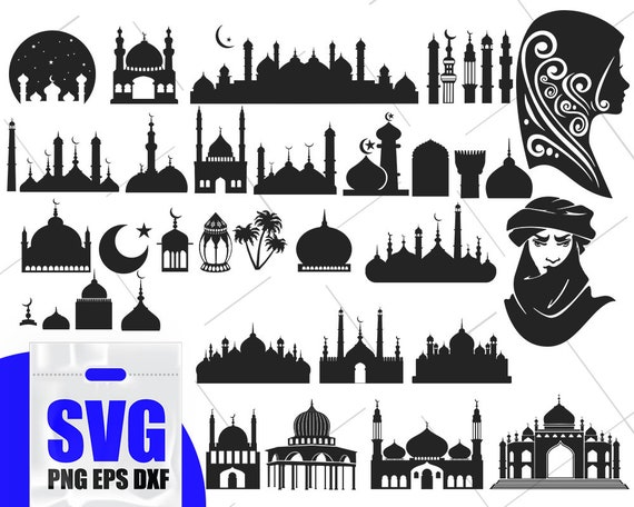 Islamic Mosque Svg Islamic Symbols Islamic Woman Islam Etsy