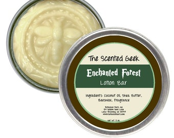 Enchanted Forest Lotion Bar - 2 oz Solid Lotion Bar - Enchanted Forest - Pine Needle Scent - Forest Scent Lotion - Masculine Lotion