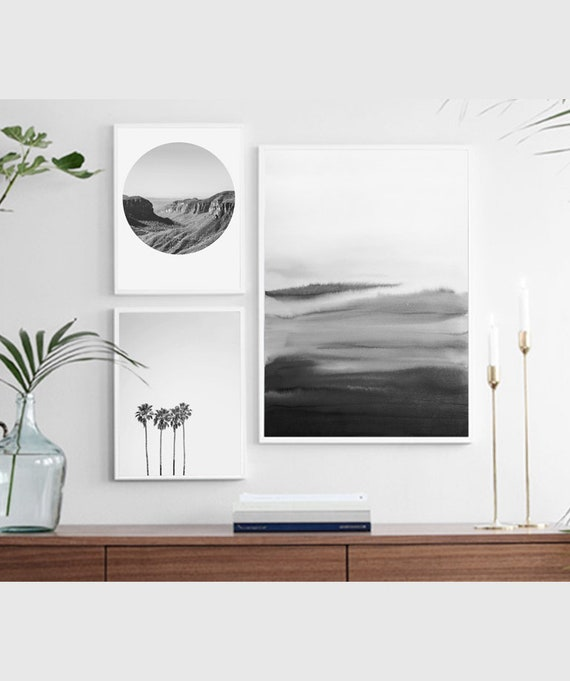 White Room Decor Scandinavian Art Living Room Art Etsy