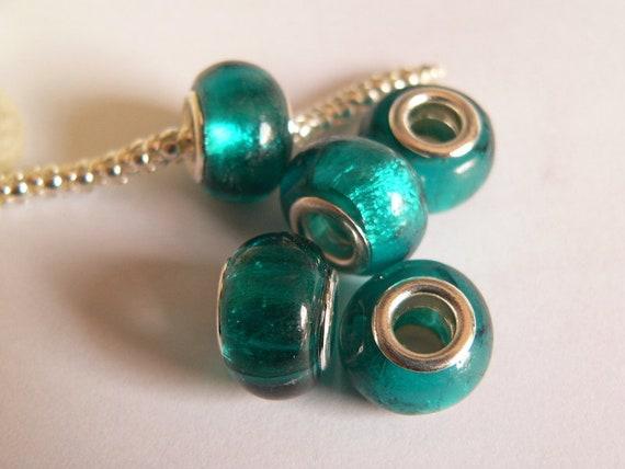 4St Edelstahl Modul Perlen #6113 Fädelloch 3,5mm