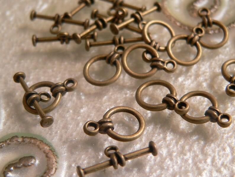 TBA052-Set of 10-jewelry closure-Toggle Lock image 0