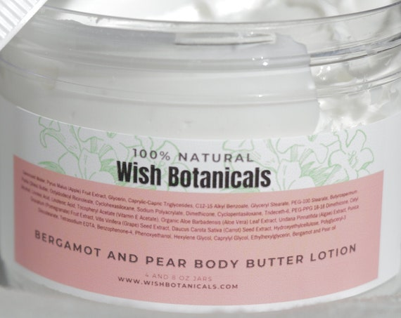 BODY BUTTER NOT greasy- Burgamot and Pear moisturizer