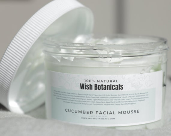 Facial Mousse | Cucumber water , vitamins A E C | Carrot Seed Oil| Avocado oil all natural