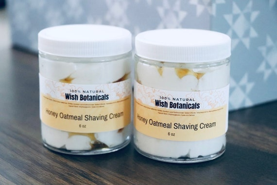 Honey Oatmeal Shaving Cream all natural organic ingredients smooth and carefree shave men or women