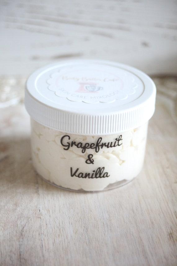 grapefruit + vanilla | refresh | organic | body butter | refresh | Hemp glow | green beauty | Body Butter Cafe