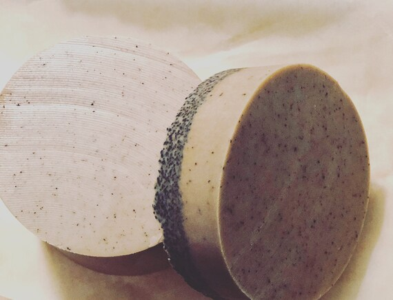 Bar Soap, Exfoliant, Coffee soap goats milk with Hemp wrapped in seed paper
