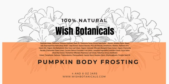 Pumpkin 100% Virgin Pumpkin Seed, Shea Butter, Mousse, Fall Scented Body, Fall Natural lotion, shea lotion, paraben free lotion