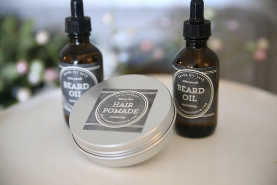 Beard oil and hair pomade set! Father's Day just got a little better! Smells Heavily with essential oils for hair and beard growth