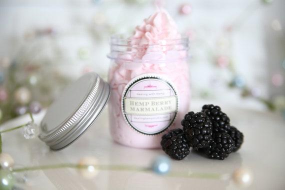 ORGANIC Cream BERRY MARMALADE Body soap whipped, Vegan Natural Butter, sugar to  Exfoliate