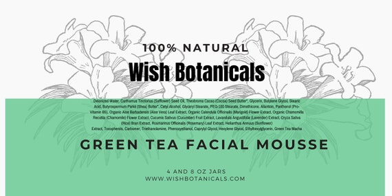 Facial Mousse | Green tea , vitamins A E C | Carrot Seed Oil| Avocado oil all natural
