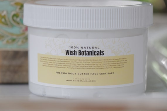 Calendula and Freesia WHIP, moisturizes and repairs dry, cracked or wounded skin with shea butter and calendula infused with hemp