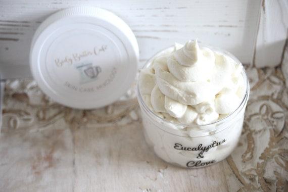 EUCALYPTUS & CLOVE | Organic | Body Butter | Fall and Winter Immunity | Inflammation| Hemp | Arnica| BUTTER