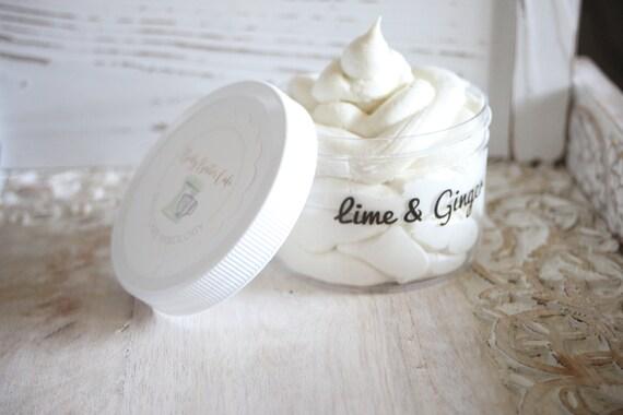 lime + ginger | organic | body butter | brighten | lighten | repair | Body Butter Cafe