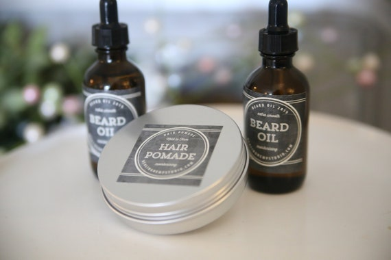 Hair POMADE FOR MEN scent matches the Beard Oil  all natural amazing shave scent for men.