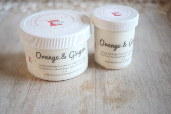 Brides | Fight Fatique and Stress | Ginger |  Orange | refresh | organic  | push gift | Hemp glow | skin food  | BRIDAL Body Butter Cafe