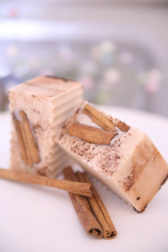 Soap Bar Artisan Soap RUSTIC SOAP Apple Crisp Cinnamon Goats Milk Donkey Milk mix