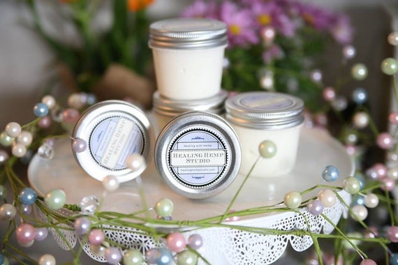 Calming Magnesium body butter with hemp oil. Mens FATHERS DAY, natural skin care, essential oils, thieves goats milk and hemp oil 4oz