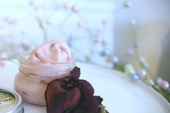 Body Cream • Moisturizing face cream with organic Rosehip more of a moisture salve than a soft lotion with HEMP