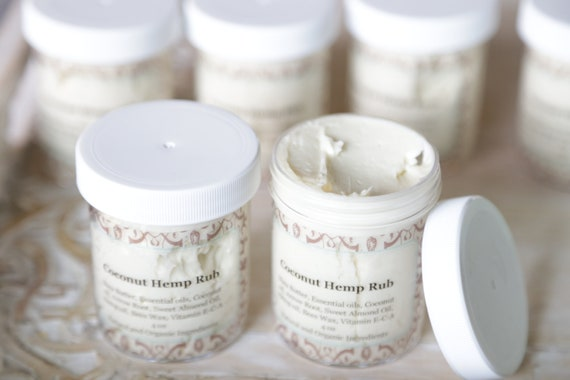HEMP COCONUT RUB, Magnesium, Healing rub, aching joints, anti inflammatory, hemp oil, hemp seeds, hemp healing, arnica, ginger, whip